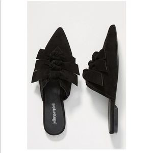 Jeffrey Campbell Charly Slides Black Suede 6 NEW